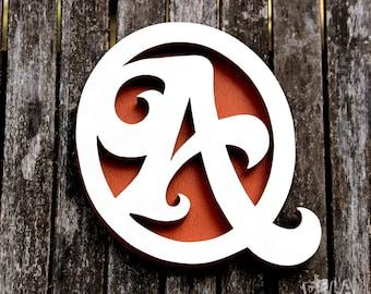 Wooden monogram letter