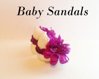 Baby Shoes, Baby Barefoot Sandals, Newborn Sandal, Newborn Shoes, Baby Sandals, Newborn Photo Prop,Baby Photo Prop,Baby Girl Sandals BS110
