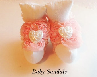 Baby Shoes, Baby Barefoot Sandals, Newborn Sandal, Newborn Shoes, Baby Sandals, Newborn Photo Prop,Baby Photo Prop,Baby Girl Sandals BS111