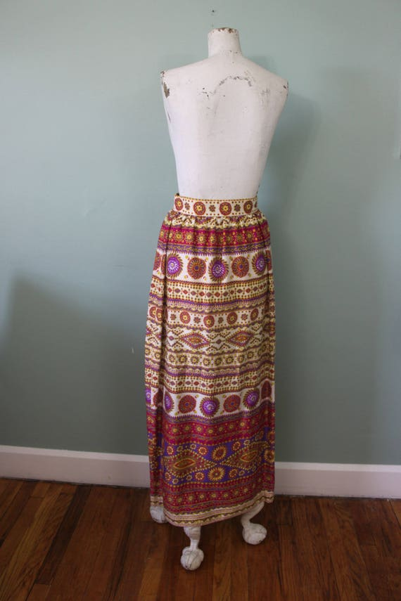 Alex Colman maxi skirt   vintage 1970s psychedeli… - image 6