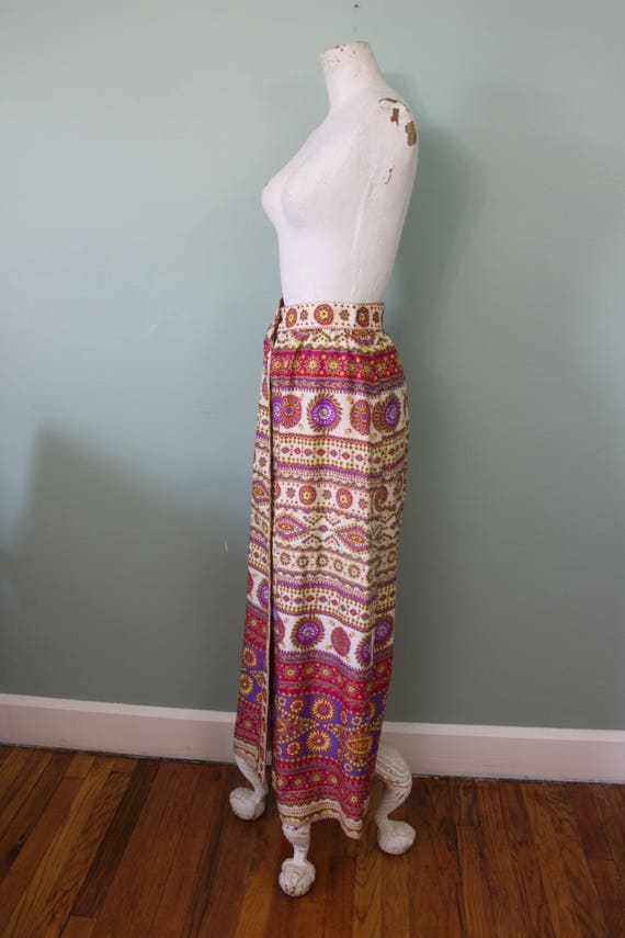 Alex Colman maxi skirt   vintage 1970s psychedeli… - image 2