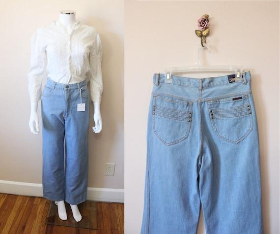 Brittania high rise wide leg jeans | 1970s light w