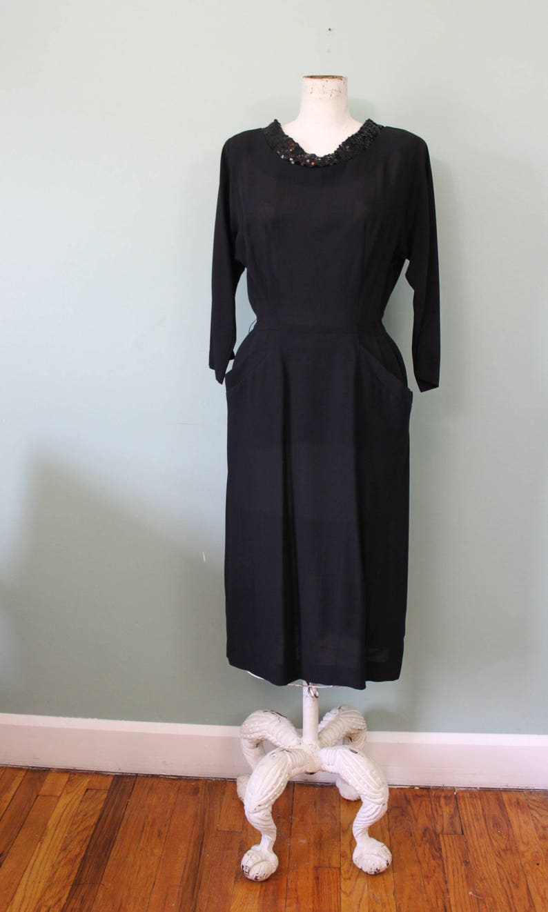 b4acf8170df Forever Young dress vintage 1950s little black dress black