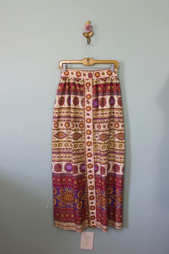 Alex Colman maxi skirt   vintage 1970s psychedeli… - image 7