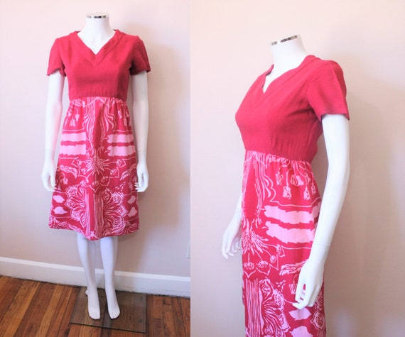 1970s MALCOM STARR a-line dress | 70s Elinor Simmo