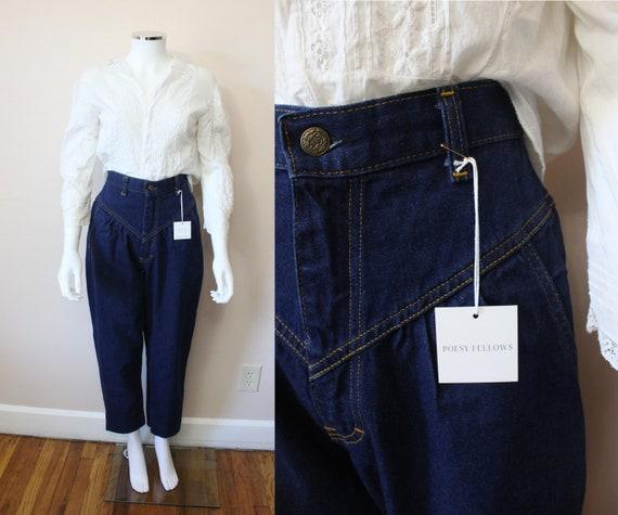 L'Abeille high waist jeans | 1970s indigo dark was