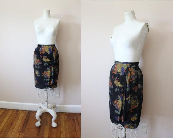 Painted Fruit skirt | 1980s Carol Little fruit pri