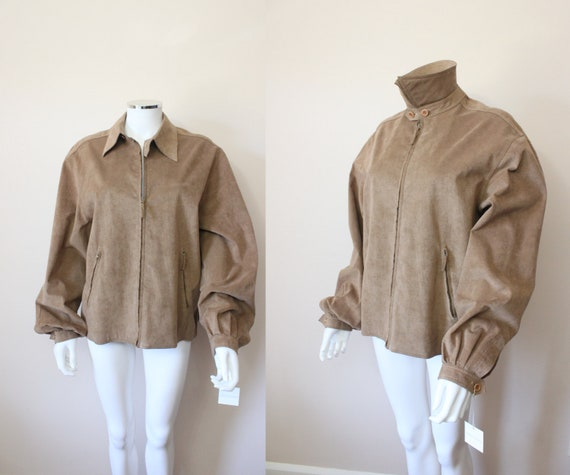 HALSTON ultrasuede jacket   1970s iconic camel Hal