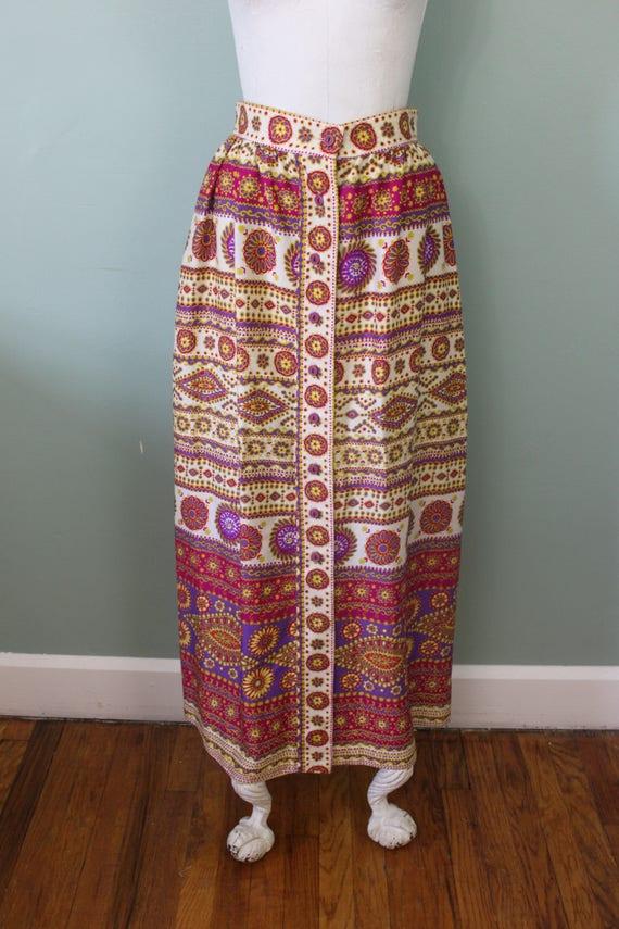 Alex Colman maxi skirt   vintage 1970s psychedeli… - image 3