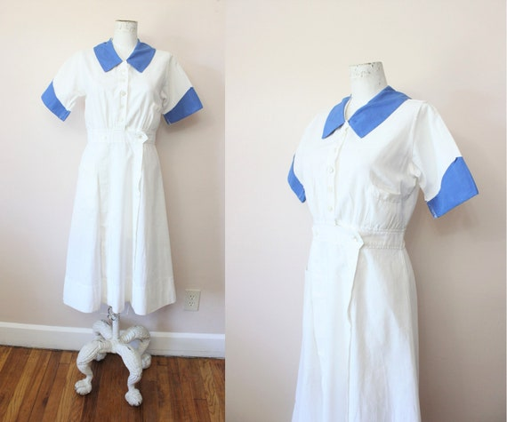 Marvin Neitzel Corp uniform dress | 1930s linen co