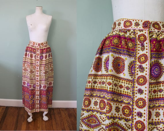 Alex Colman maxi skirt | vintage 1970s psychedelic