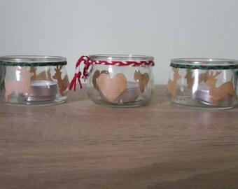 Set of 3 Christmas candles