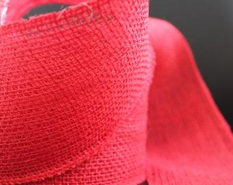 Canvas - 10cm - red burlap Ribbon