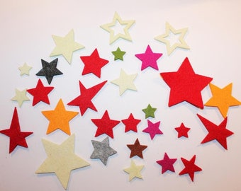 Batch1: 28 stars felts - Christmas theme