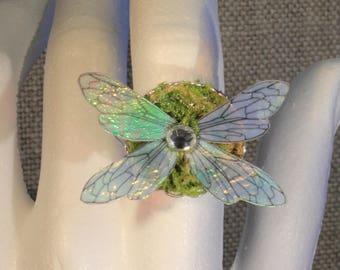 "Ring adjustable ""fairy wings"" magical, fantasy, fantasy"