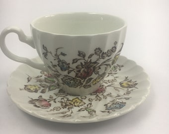 Vintage Staffordshire Bouquet Collection Replacement Tea Cup Set Johnson Bros Brothers England English Tea Cup