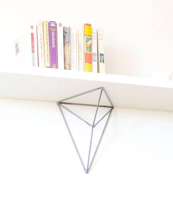 BF09ÉQUERRE MURALx2rangement triangle forme métal originale et design ÉTAGÈRE en dCxhtsQrB