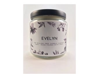 EVELYN | Soy Blend Candle | 16oz Candle | Scented Candle
