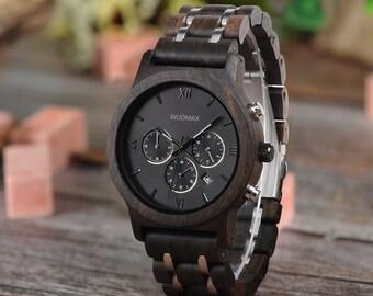 Beste Vatertagsgeschenk für Männer, Holz Uhr, gravierte Holz Uhr, persönliches Geschenk, Holz Herrenuhr, gravierte Uhr, Holz Uhr Männer