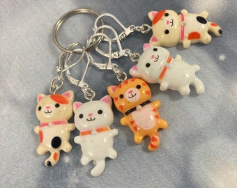 2nds - Cat Knitting Stitch Markers, Progress Keepers, Crochet, Knitting Accessories, Gifts For Knitters