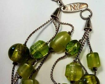 silver and peridot bracelet