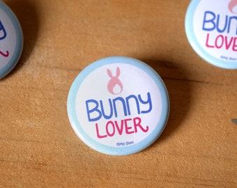 Bunny Lover Badge Pin