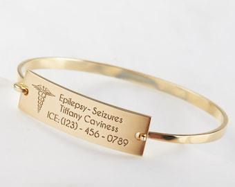 Personalized Medical Bracelet   Medical Alert Bracelet   Medical ID Diabetic Bracelet   Custom Kids Medical Bracelet    Allergy Bracelet