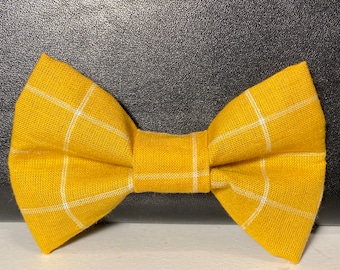 Golden fall(dog) bow tie with velcro