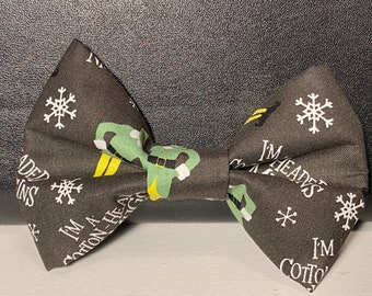 The Elf(dog) bow tie with velcro