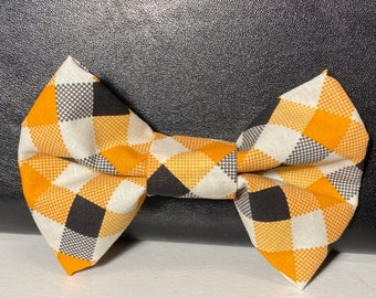 Fall casual(dog) bow tie with velcro