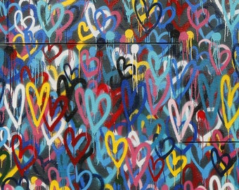 Graffiti Heart Art Etsy