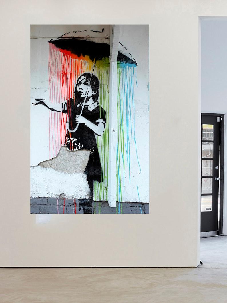 BANKSY CHEETAH GRAFFITI STREET ART URBAN CANVAS PRINT POSTER WALL DESIGN