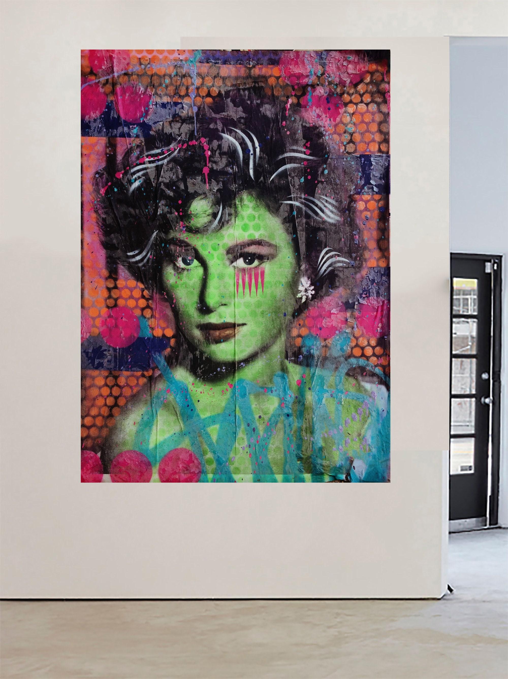 Brooklyn New York Street Art Graffiti Painting Canvas Girl