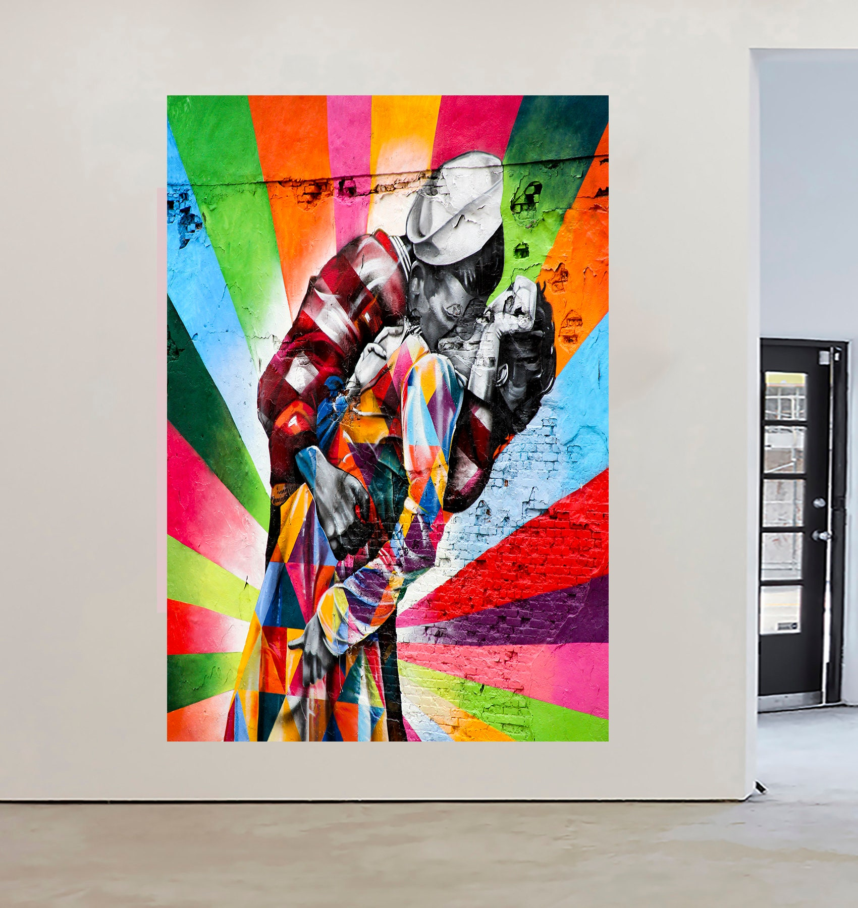 GRAFFITI  NEW YORK STREET ART URBAN 150cm x 100cm  CANVAS PRINT