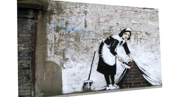 BANKSY NO BALL GAMES RAT GRAFFITI CANVAS PRINT WALL ART PICTURE FREE UK P/&P