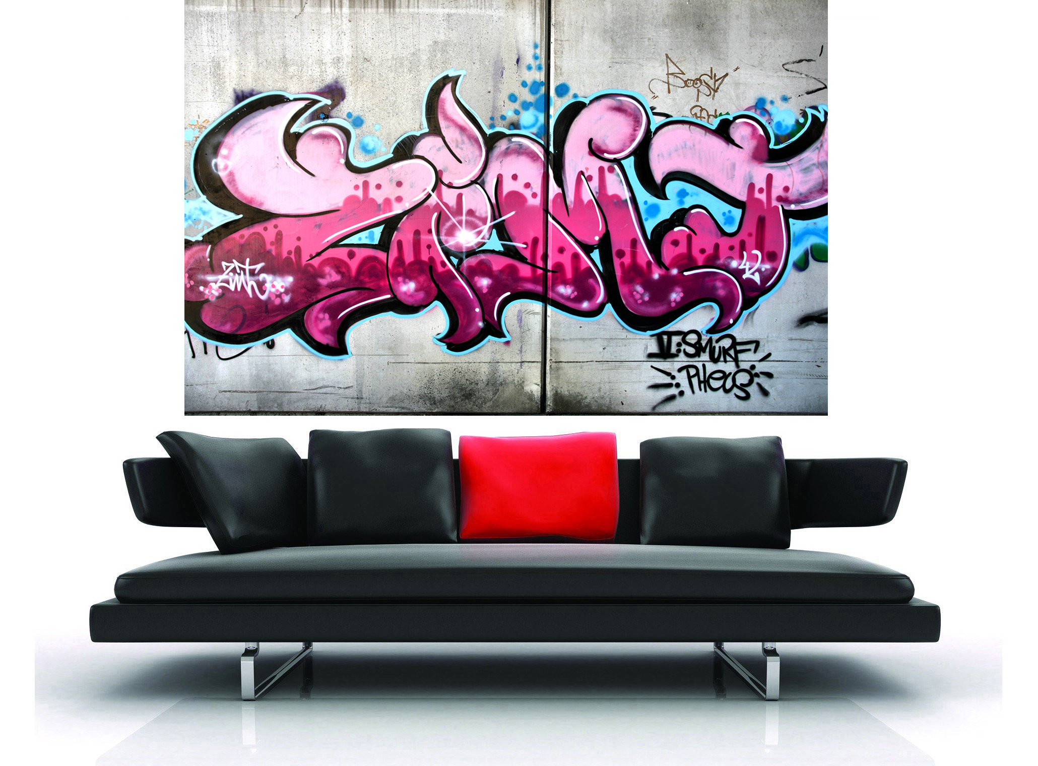 A0 SUPER SIZE CANVAS STREET ART GRAFFITI  PRINT urban  BANKSY wall decor