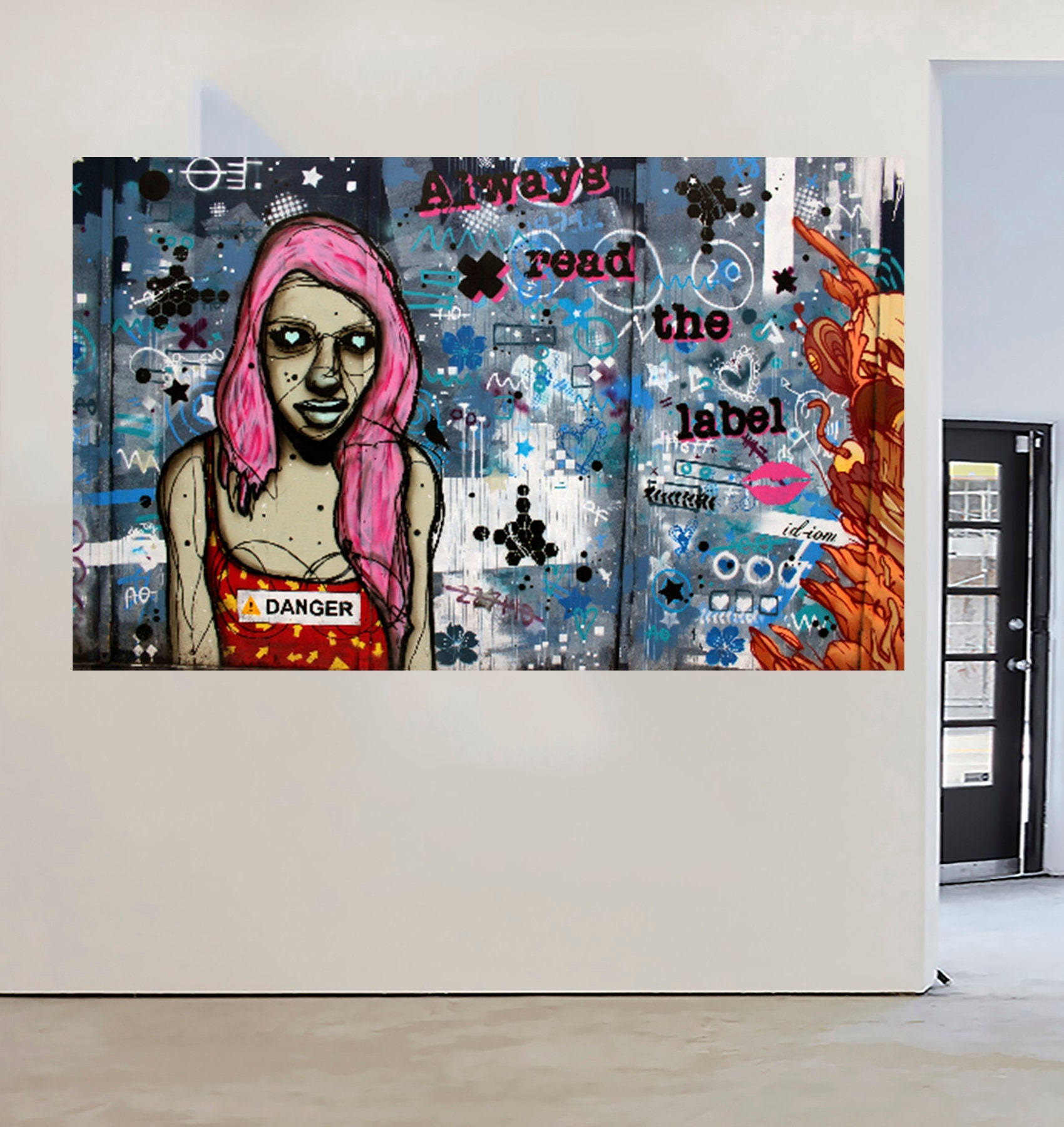 Massive street art graffiti urban canvas print Australia Painting 200cm x 100cm