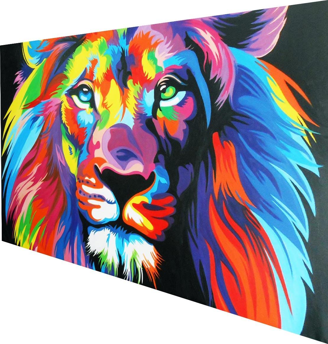 street art Australia PAINTING custom RAINBOW LION CAT 160cm x 120cm