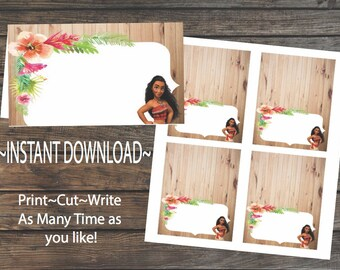 Moana Party Food Tent Cards~Instant Download~Printable