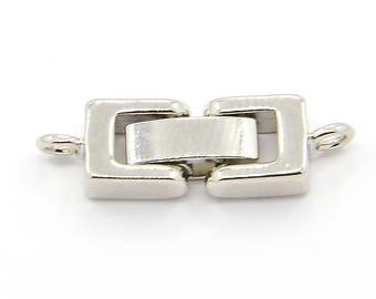 1 clip clasp tone Platinum 24x7x4mm clip clasp