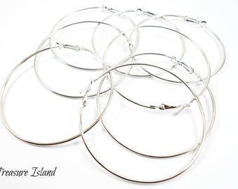 10 hoop earrings silver, hoops silver