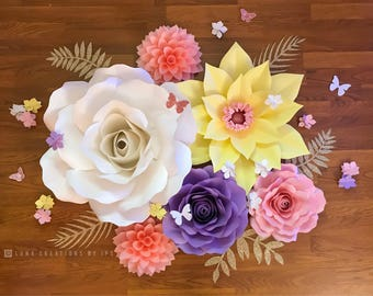 Spring pastels paper flowers
