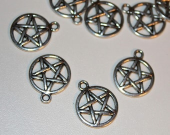 x 1 in circle - Silver Star charm