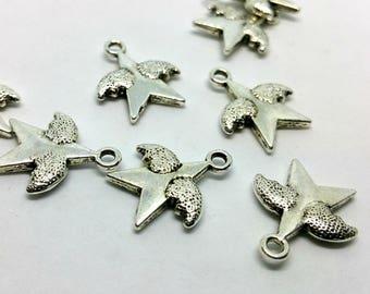 Charm 1 X - Wing - silver metal star