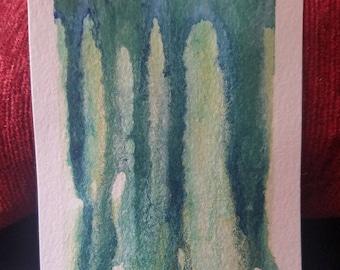 Watercolor Green/Blue Drip (Small)