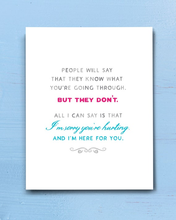 Empathy Card Sympathy Card Sorry For Your Loss Condolence Card Here If You Need Anything 126 Thinking of You Bereavement Card