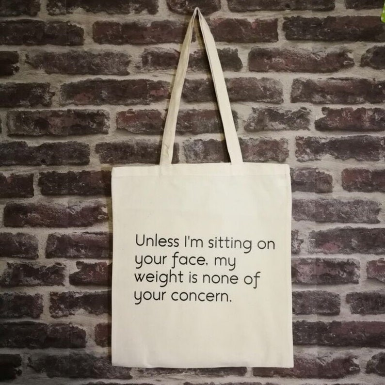 Body Positive message tote bag image 0