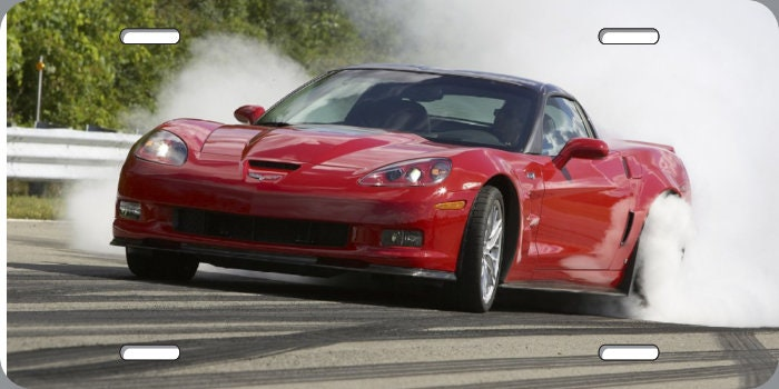 2009 Corvette ZR1 Red | License Plate | 6x12 inch | free shipping for sale