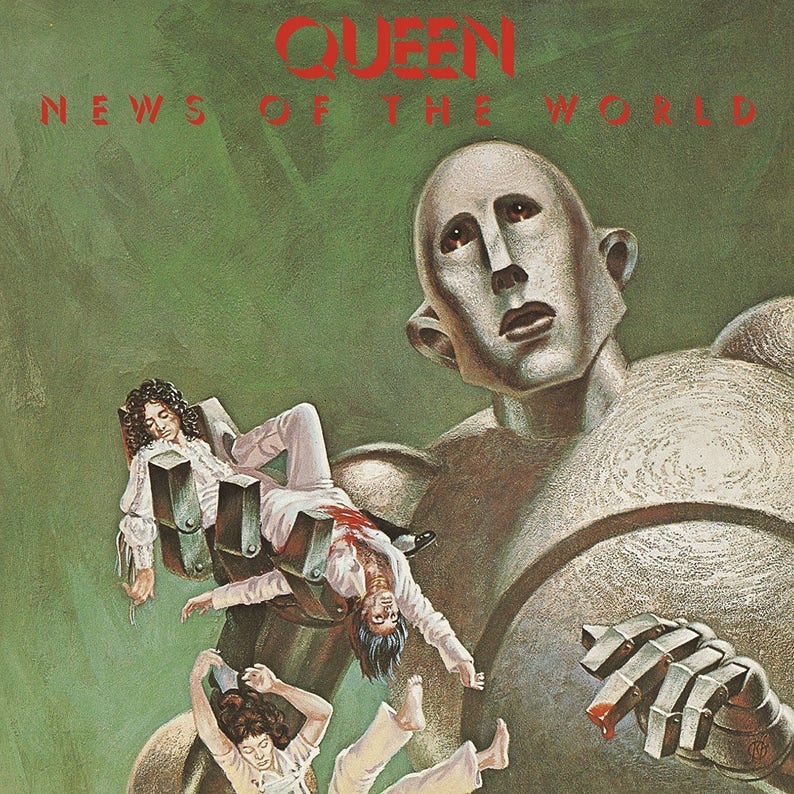 Queen news of the world album cover poster 24 x 24 inches