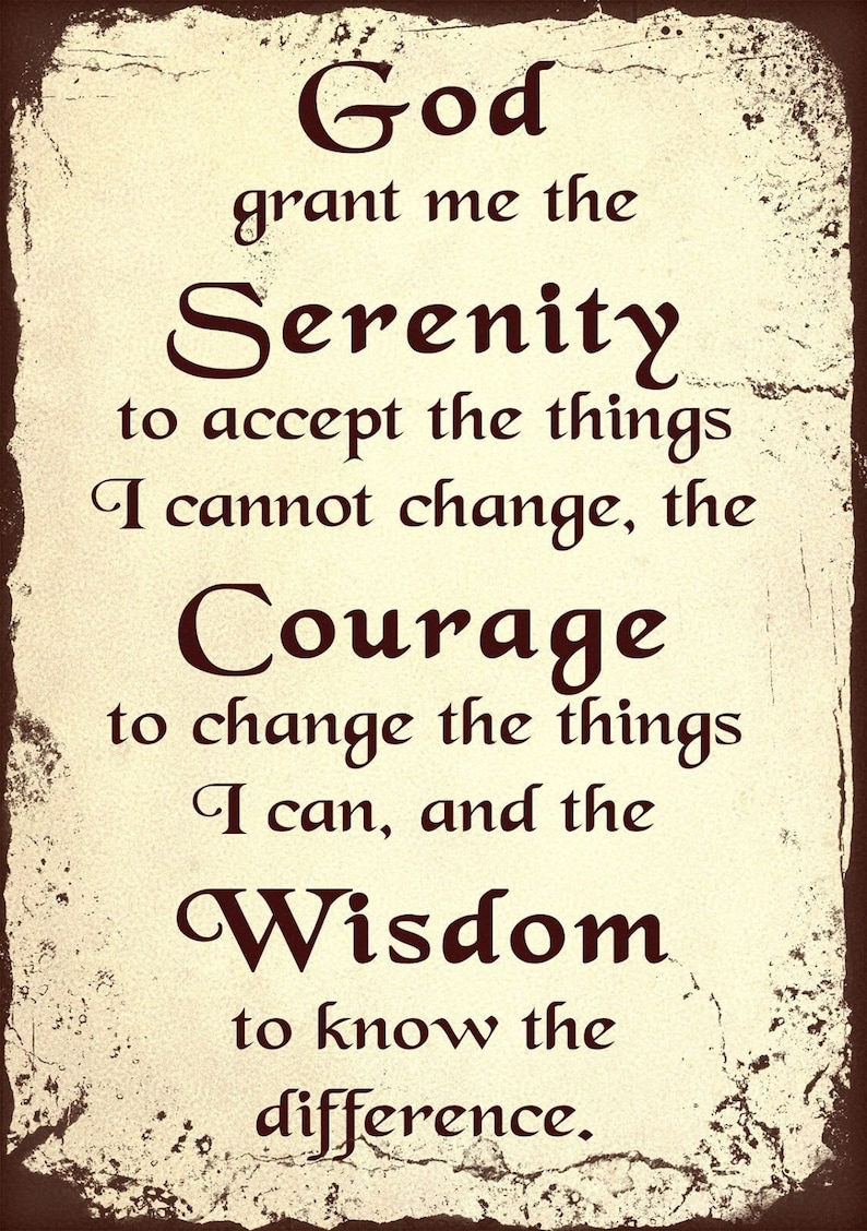 Serenity Prayer Retro Metal Tin Sign religious Catholic image 0